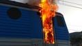 Požár lokomotivy na Ústecku - 1