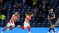 Luka Modrič se raduje z gólu do sítě Skotska