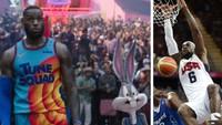 LeBron James ve filmu Space Jam: Nový začátek a v reprezentačním dresu na OH v Londýně