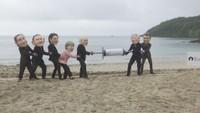 Protestanti proti setkání G7