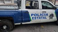 Auto mexické policie po přestřelce s obchodníky s drogami. Ilustrační foto