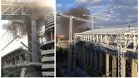 Požár na stadionu Santiago Bernabeu