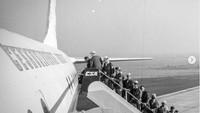 Odlet českých reprezentantů do Tokia v roce 1964