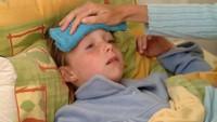 Nemocné dítě - ilustrační