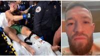 Conor McGregor na nosítkách a v nemocnici