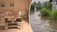 Vyklízení domů na Děčínsku po bleskových povodních
