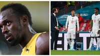 Usain Bolt, Jadon Sancho a Marcus Rashford