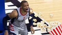 Ilustrační foto: Russel Westbrook a popcorn