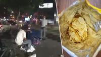Policista zachránil postřeleného muže pytlíkem od chipsů