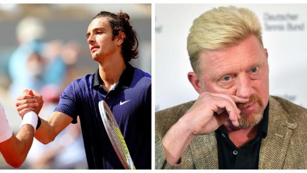 Lorenzo Musetti a Boris Becker