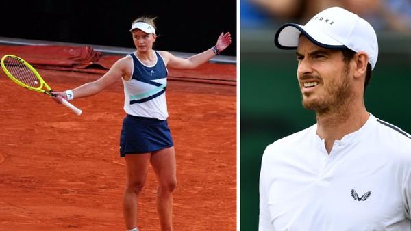 Barbora Krejčíková a Andy Murray