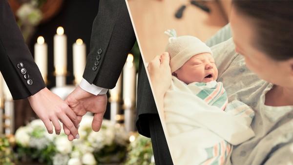 Pohřeb, porod