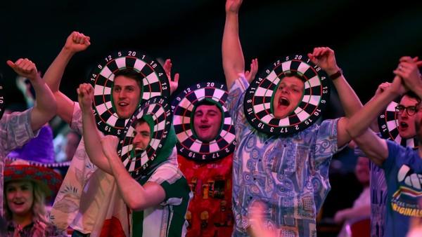 Fanoušci na Premier League Darts