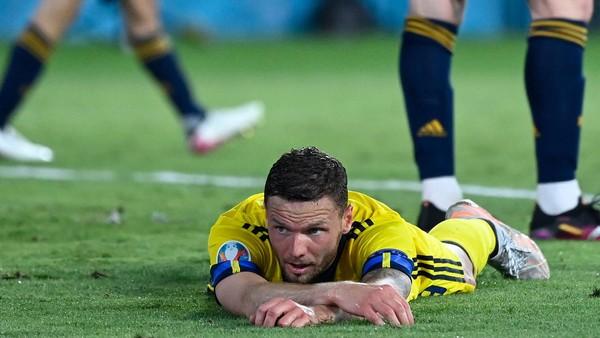 Švédský fotbalista Marcus Berg po zmařené šanci