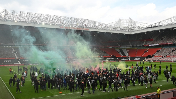 Protesty na stadionu Manchesteru United