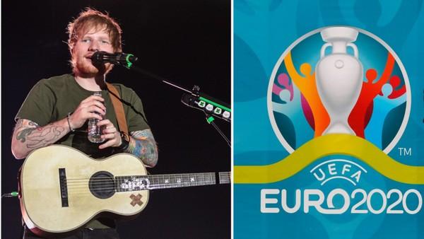 Zpěvák Ed Sheeran a Euro