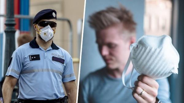 Policista a respirátor