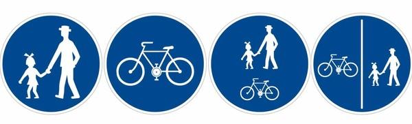 Stezky pro chodce a pro cyklisty