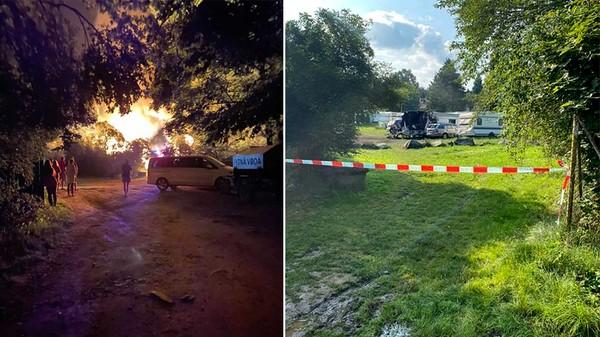 Požáry karavanů v kempu Radava děsí návštěvníky, může jít o žháře