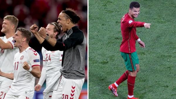 Rekordman Ronaldo i ofenzíva Dánska. Takové byly skupiny Eura