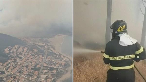Ráj ve Středomoří ničí plameny! Domovy muselo opustit 1500 lidí