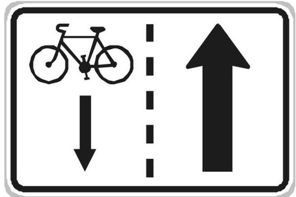 Cyklista v jednosměrce v protisměru