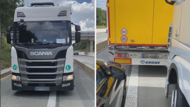 Kamion zatarasil dálnici