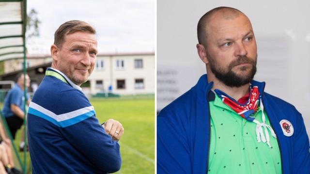 Fotbalové legendy Vladimír Šmicer a Tomáš Ujfaluši